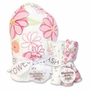 Hula Baby Pink Hooded Towel and Washcloth Set