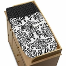 Isabella Black and White Damask Changing Pad Cover Sweet Jojo Designs