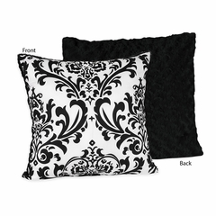 Isabella Black and White Damask Decorative Accent Throw Pillow