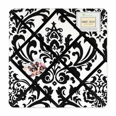 Isabella Black and White Damask Fabric Memo Board Sweet Jojo Designs