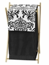 Isabella Black and White Damask Hamper by Sweet Jojo Designs