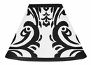 Isabella Black and White Damask Lamp Shade by Sweet Jojo Designs
