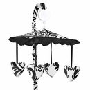 Isabella Black and White Damask Musical Mobile by Sweet Jojo Designs
