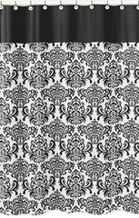 Isabella Black and White Damask Shower Curtain by Sweet Jojo Designs