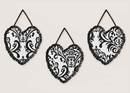 Isabella Black and White Damask Wall Hangings by Sweet Jojo Designs