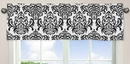 Isabella Black and White Damask Window Valance by Sweet Jojo Designs