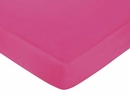 Isabella Hot Pink, Black & White Damask Collection Hot Pink Crib Sheet