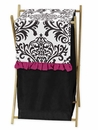 Isabella Hot Pink, Black & White Damask Hamper by Sweet Jojo Designs