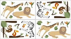 Jungle Adventure Wall Decals - Set of 4 Sheets by Sweet Jojo Designs