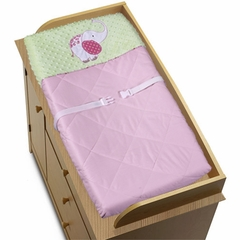 Jungle Friends Girls Pink and Green Collection Changing Pad Cover