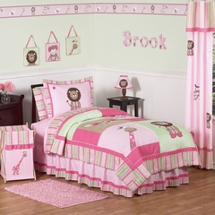 Jungle Girls Bedding 4 Pc Twin Bedding Set by Sweet Jojo Designs