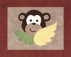 Jungle Monkey Accent Floor Rug by Sweet Jojo Designs