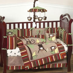Jungle Monkey Baby Bedding - 9 Piece Crib Set