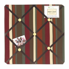 Jungle Monkey Collection Stripe Fabric Memo Board