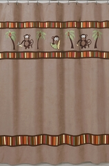 Jungle Monkey Shower Curtain by Sweet Jojo Designs