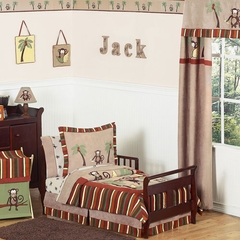 Jungle Monkey Toddler Bedding Set