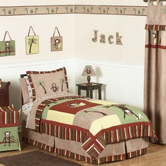 Jungle Monkey - Twin Kids Bedding Twin 4 Piece Set
