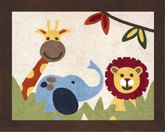 Jungle Time Animals Accent Floor Rug by Sweet Jojo Designs