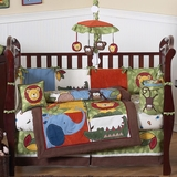 Jungle Time Animals Baby Bedding - 9 Piece Crib Set