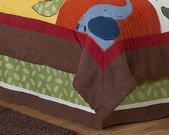 Jungle Time Animals Collection Queen Bed Skirt by Sweet Jojo Designs