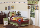 Jungle Time Animals - Kids Bedding 4 Piece Twin Set