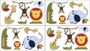 Jungle Time Animals Wall Decals by Sweet Jojo Designs