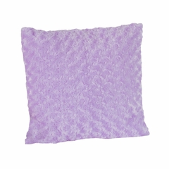 Kaylee Collection Purple Minky Swirl Decorative Accent Throw Pillow