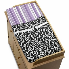 Kaylee Purple Changing Pad Cover by Sweet Jojo Designs