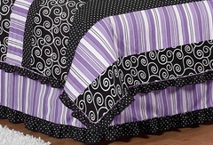 Kaylee Purple Collection Queen Bed Skirt by Sweet Jojo Designs