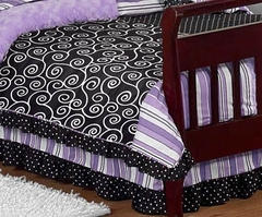 Kaylee Purple Collection Toddler Bed Skirt by Sweet Jojo Designs