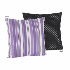 Kaylee Purple Polka Dot and Stripe Decorative Accent Throw Pillow