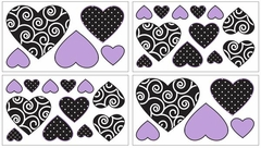 Kaylee Purple Wall Decals by Sweet Jojo Designs