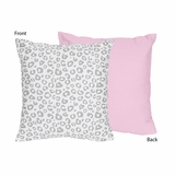 Kenya Pink and Gray Cheetah Decorative Accent Throw Pillow
