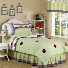 Ladybug Parade - Kids Bedding 4 Piece Twin Set