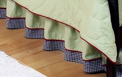 Ladybug Parade Toddler Bed Skirt by Sweet Jojo Designs