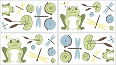 Leap Frog Wall Decals - Set of 4 Sheets by Sweet Jojo Designs