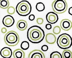 Lime Green and Black Spirodot Accent Floor Rug