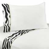 Lime Green Zebra 4 Piece Queen Sheet Set
