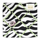 Lime Green Zebra Print Fabric Memo Board