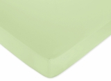 Lime Green Zebra - Solid Lime Green Crib Sheet