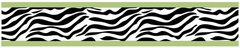 Lime Green Zebra Wallpaper Border By Sweet Jojo Designs