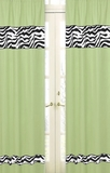 Lime Green Zebra Window Panel Curtains by Sweet Jojo Designs
