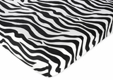 Lime Green Zebra - Zebra Print Crib Sheet