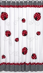 Little Ladybug Polka Dot & Gingham Shower Curtain - Sweet Jojo Designs