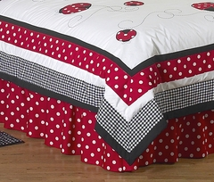 Little Ladybug Queen Bed Skirt by Sweet Jojo Designs