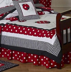 Little Ladybug Toddler Bed Skirt by Sweet Jojo Designs