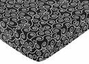 Madison Collection Crib Sheet - Black & White Scroll Print