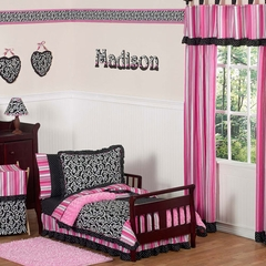 Madison Scroll Print & Polka Dot Bedding - Toddler Bedding Set