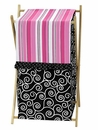 Madison Scroll Print & Polka Dot Hamper by Sweet Jojo Designs