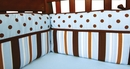 Max Blue and Brown Crib Bumper by Trend Lab